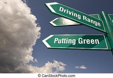 golf, signes