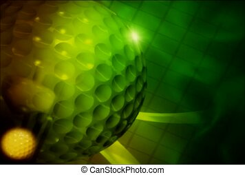 golf, spin, rotate