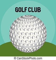 golf sport club with ball