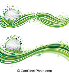 golf sport design element - vector illustration of golf...