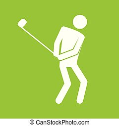 Golf Sport Figure Symbol Vector Illustration Graphic