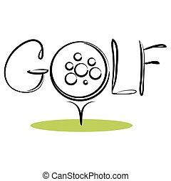 Golf Sport Icon - An image of a sport background icon for...
