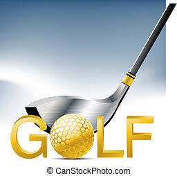 Golf Sport concept illustration .