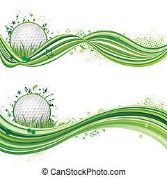 golf, sportende, ontwerpen basis