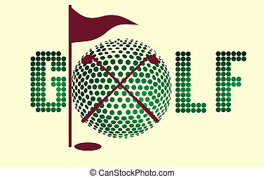 golf sports equipment vector art