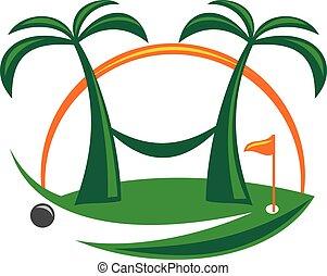 golf, su, spiaggia