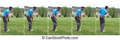 Golf swing combo - Combination of steps to a golf swing