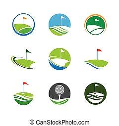 Golf symbol vector icon