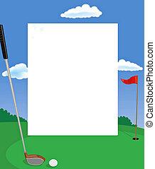 golf, tarjeta