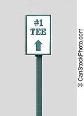 Golf Tee Sign