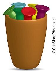 Golf Tees in a cup,vector - Golf Tees in a cup (cup of tea)