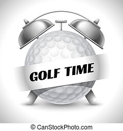Golf Time. Concept on Sport Golf Theme. Time to Play Sports....