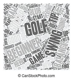 Golf Tips For The Beginner Golfer text background wordcloud...