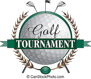 golf, toernooi, klaveren, ontwerp