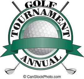 golf, toernooi, ontwerp