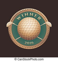 Golf tournament, competition vector logo