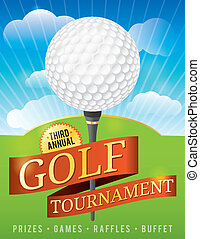Golf Tournament Design - A nice design background for a golf...