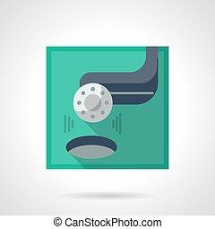 Golf tournament flat color vector icon