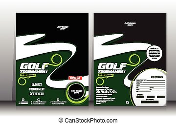 golf tournament Flyer & Brochure