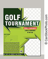 golf tournament flyer & magazine design vector illustration