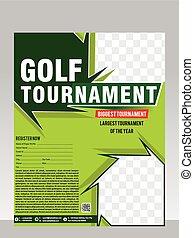 golf tournament flyer & magazine design vector illustration