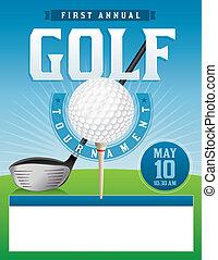 Golf Tournament Illustration - An illustration for a golf...