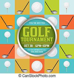 Golf Tournament Illustration - An golf tournament flyer...