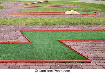 golf  training field in the resort