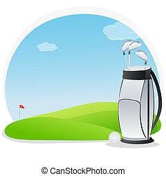 golf, utrustning