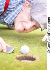 golf, vansinnig