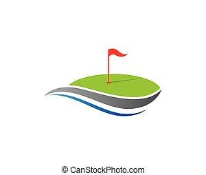 Golf vector icon