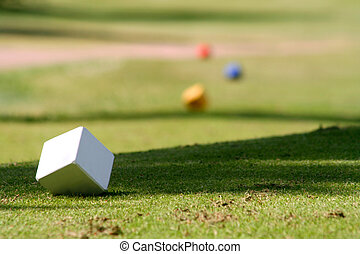 Golfcourse - White, yellow, blue and red tee marks