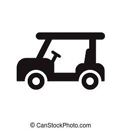 golfe, desenho, sobre, fundo branco, ícone