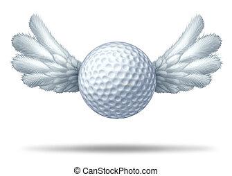 golfe, e, golfing, símbolo