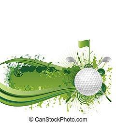 golfe, elementos, desenho