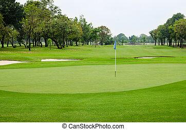 golfe, natureza, beautyful, curso, paisagem, vista