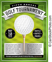 golfe, voador, torneio