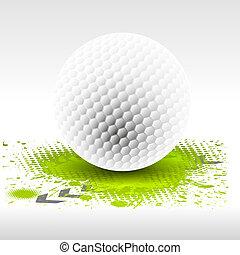 golfen, entwerfen element