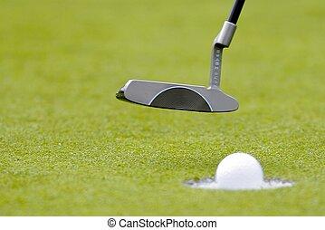 golfen, setzen grüns