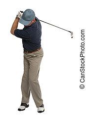 Golfer back swing
