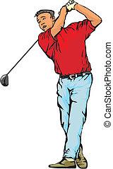 golfer - ball game, golf course