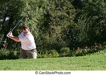 Golfer - From the bunker