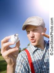 Golfer Gets A Birdie On The Ninth