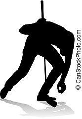 Golfer Golf Sports Person Silhouette - A golfer sports...