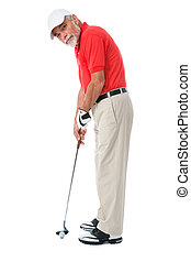Golfer - golfer isolated on a white background