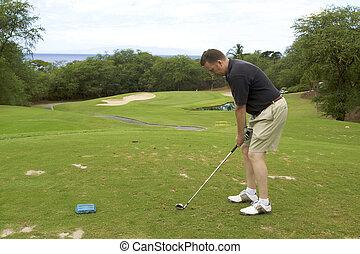 Golfer hitting Tee Shot