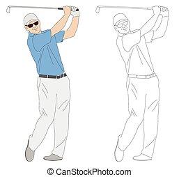 golfer, ilustração
