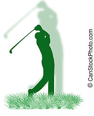 Golfer on the grass