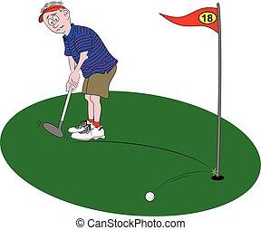 golfer, pôr