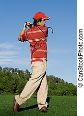 golfer playing game of golf